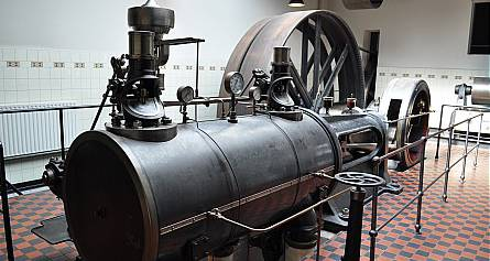The steam engine of the textile museum