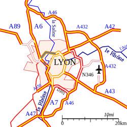 Lyon motorways