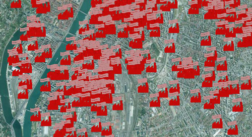 industrial heritage in Lyon - map