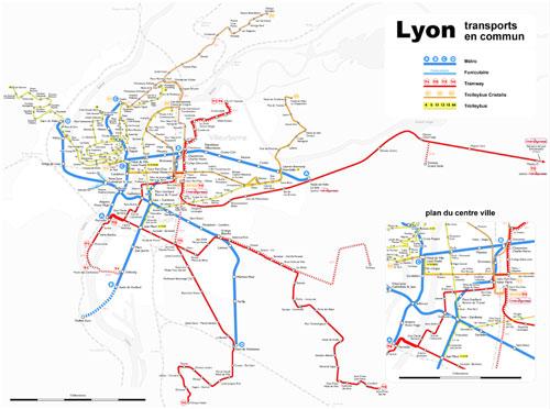 Transport en communn à Lyon